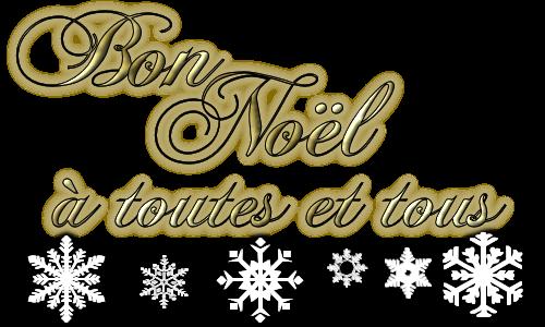 Bon Noel à toutes et tous