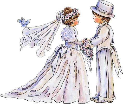 tube personnage (mariés)