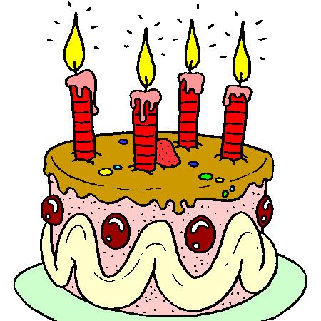 gif gateau anniversaire 4 ans