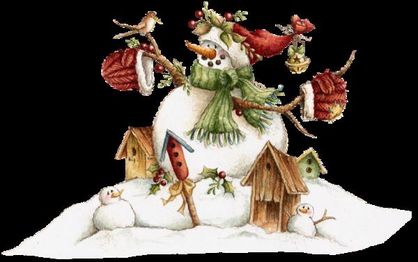 tube noël : bonhomme de neige