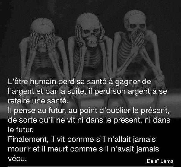 l'être humain .......