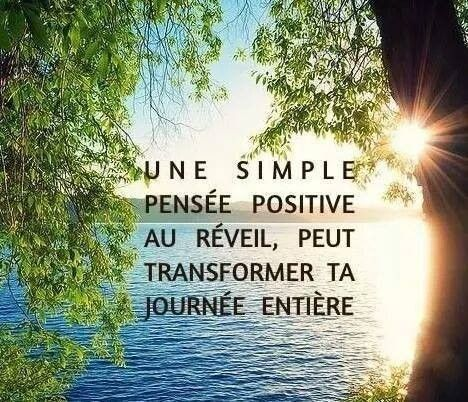 une simple pensée positive......