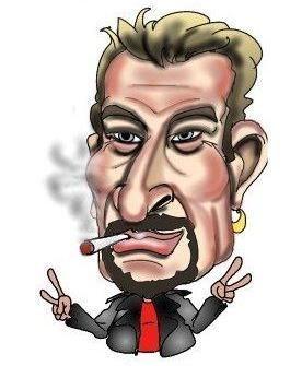 caricature johnny Halliday